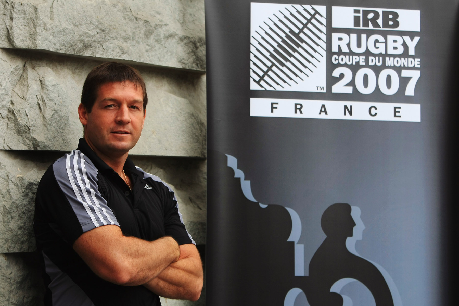 PARIS - OCTOBER 17:  Rugby World Cup referee, Alain Rolland of Ireland poses for the media on October 17, 2007 in Paris, France.  (Photo by Jamie McDonald/Getty Images) *** Local Caption *** Alain Rolland